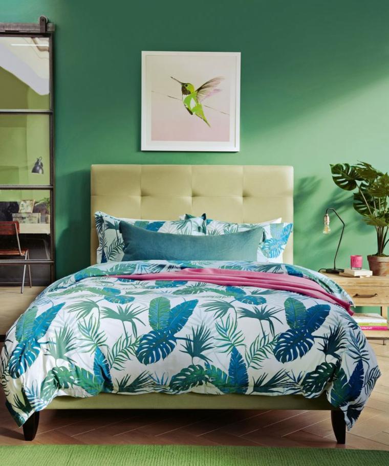 pittura colore verde menta abbinare colori pareti e mobili camera da letto