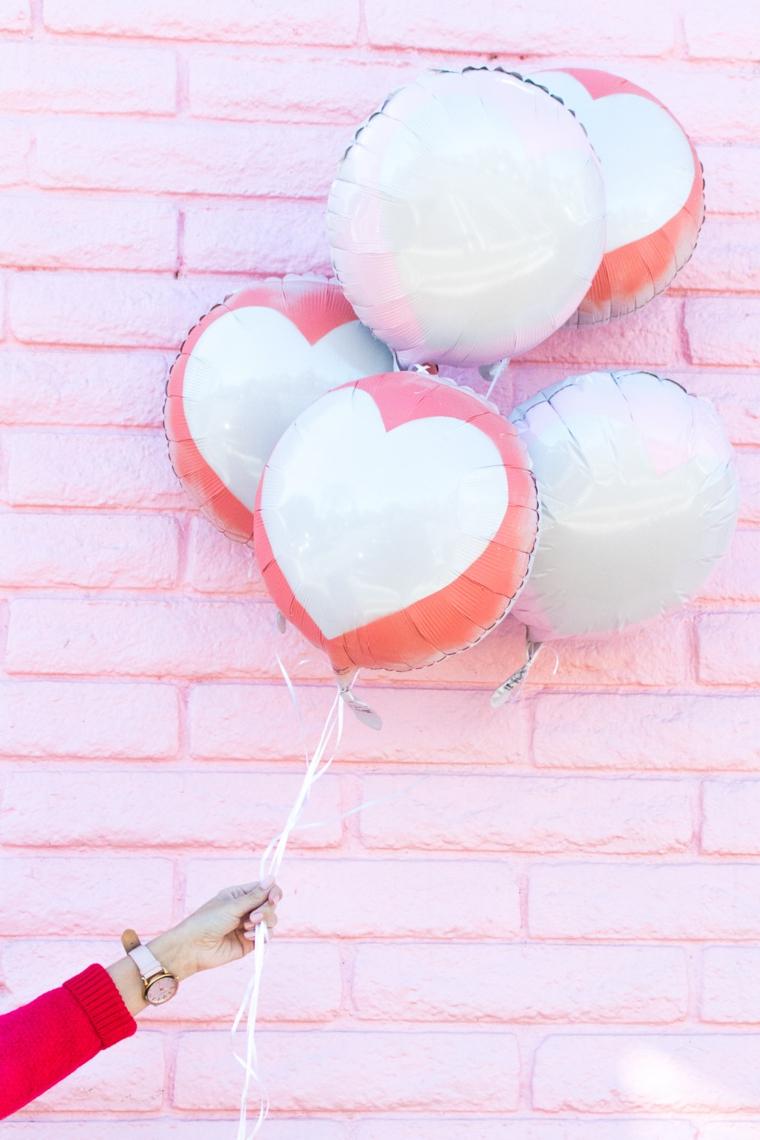 regalo per 14 febbraio palloncini colorati con cuori regalo per uomo