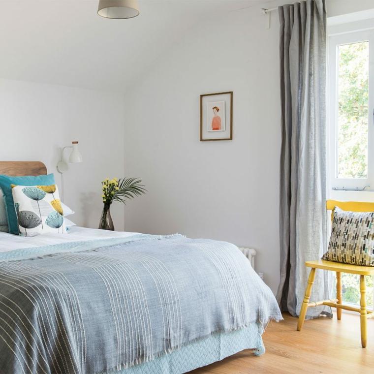 soffitto in pendenza idee per dipingere camera da letto pavimento in legno