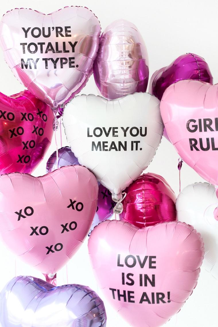 sorprese san valentino idea regalo con palloncini personalizzati con scritte