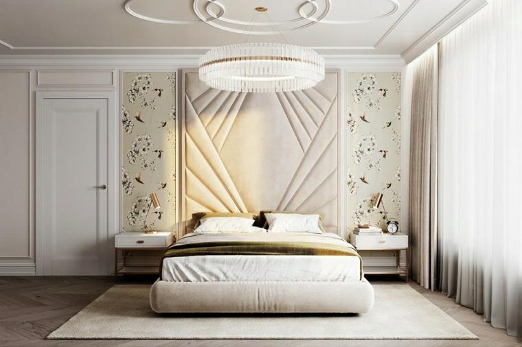 tinte per pareti camera da letto arredamento stile classico decorazione parete con pannelli