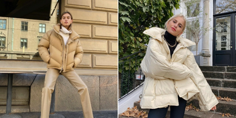 dr martens anfibi abbigliamento donna con vestiti beige puffer jacket di colore bianco