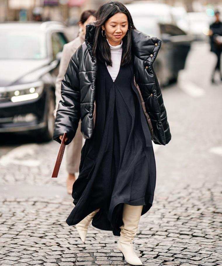 abbigliamento tendenze autunno inverno 2021 donna puffer jacket nero