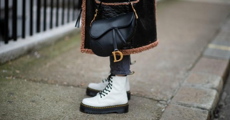 come vestirsi tumblr abbigliamento invernale borsetta nera dior