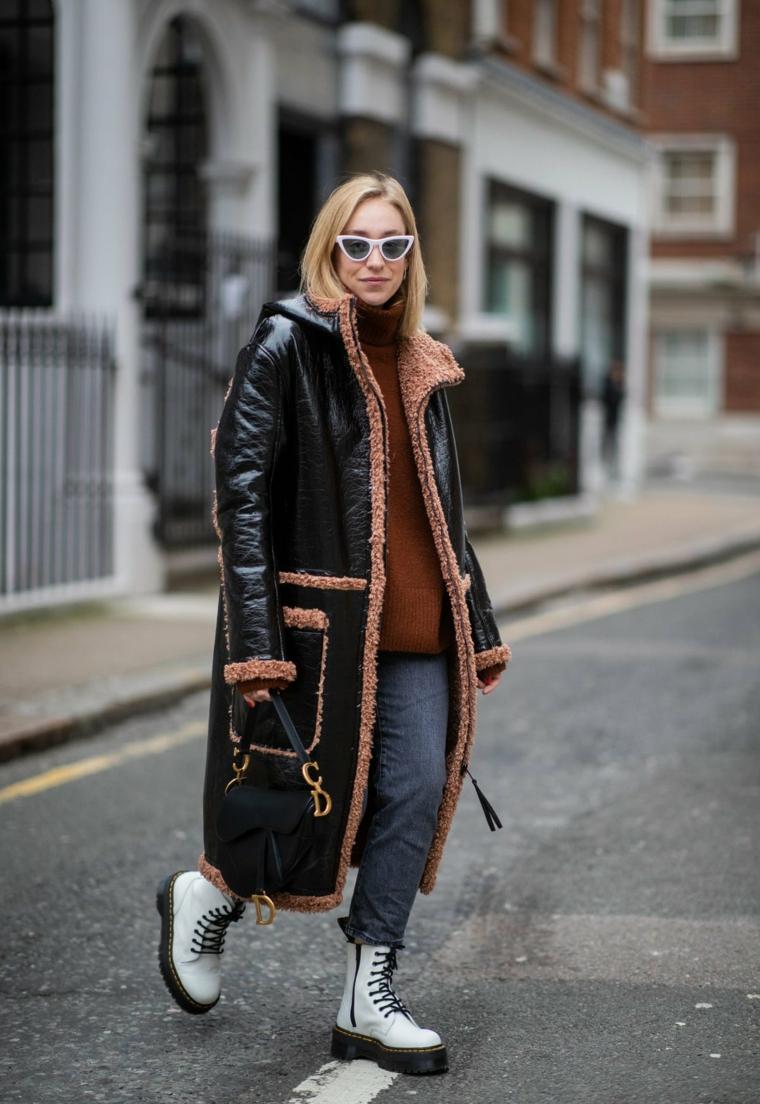 come vestirsi tumblr abbigliamento invernale donna con giacca lunga tasche grandi