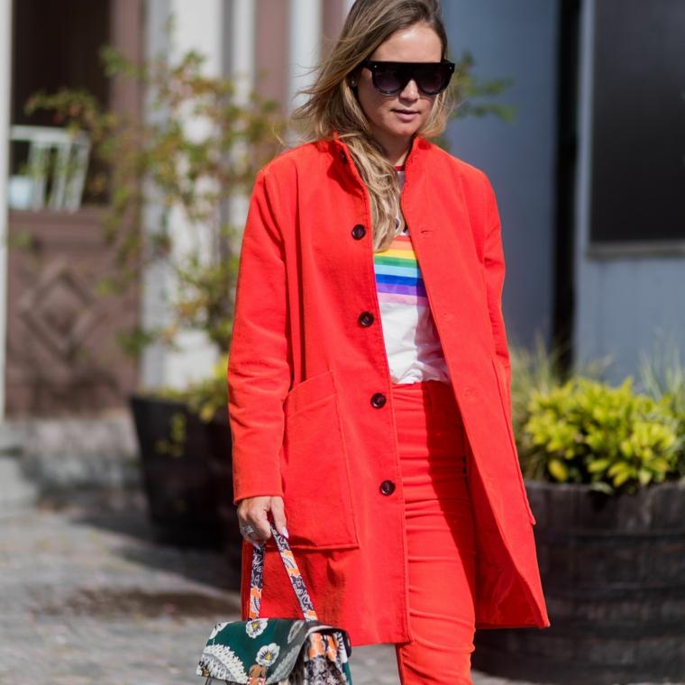 maglietta arcobaleno per donna giacca lunga di colore rosso vestiti tumblr per ragazze