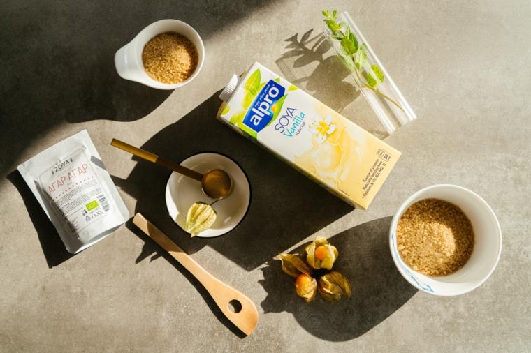 ricette vegane dolci ingredienti per fare il creme caramel vegan