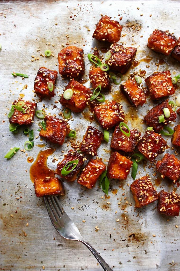 ricette vegane secondi tofu saltato in padella con verdure