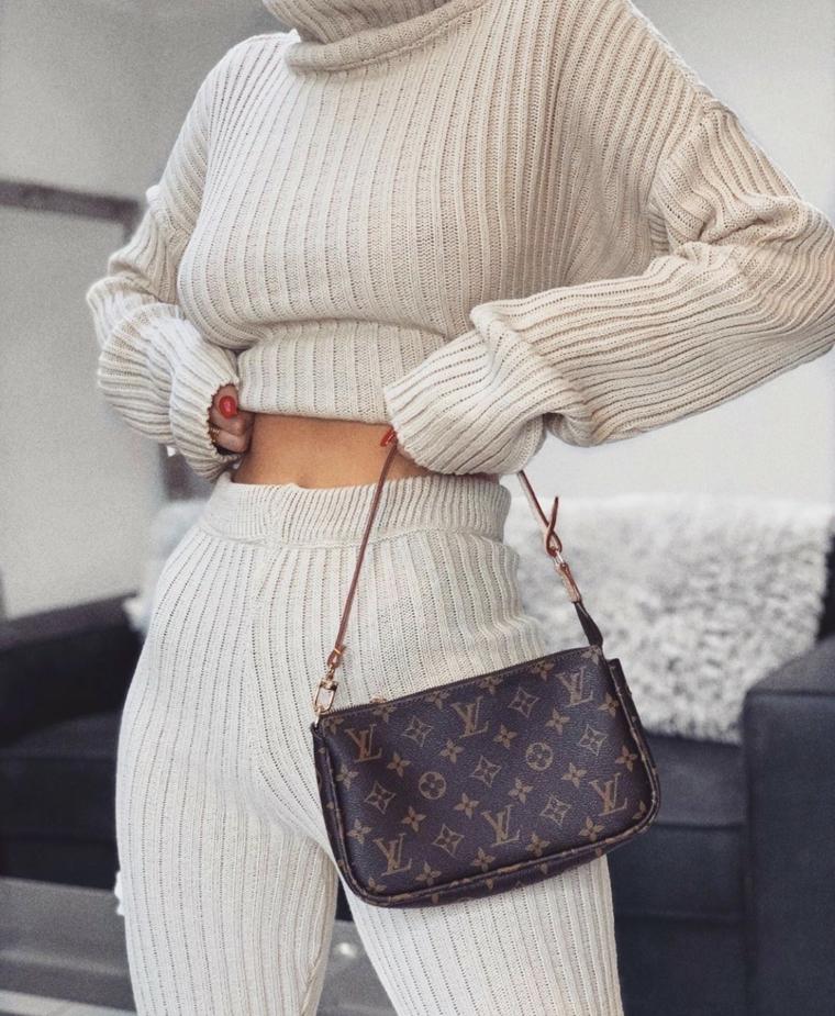 tendenze tumblr 2021 autunno inverno abbigliamento con lana di colore bianco