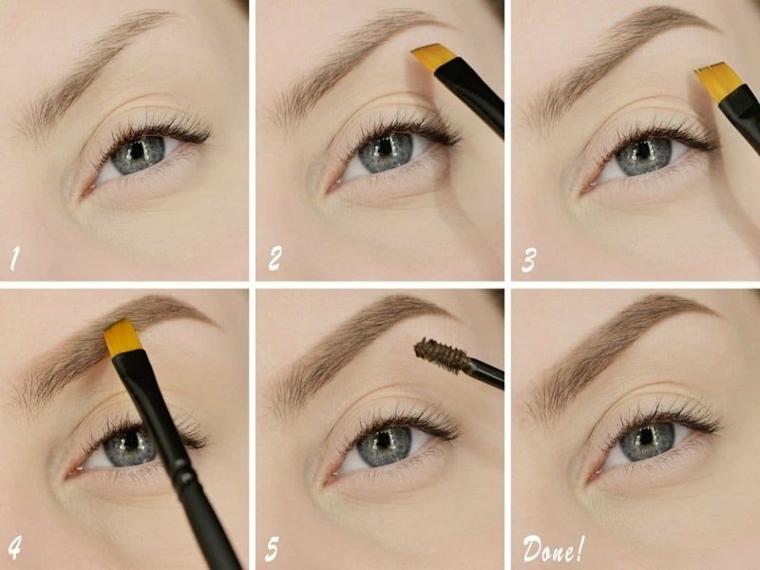 tutorial per disegnare sopracciglia forma giusta make u con pennello