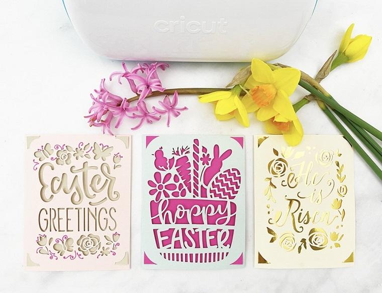 biglietti di auguri pasqua stampare cartolina tridimensionale con stampante