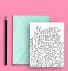 cartolina con motivi floreali da colorare cosa fare per la festa della mamma