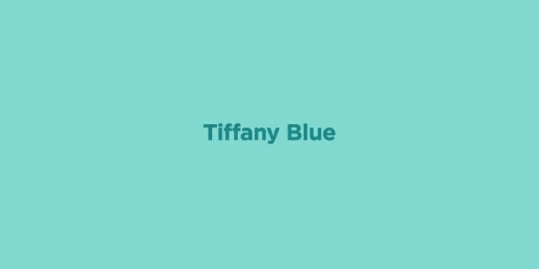 colore nuance tiffany abbinamento tonalità verde e blu