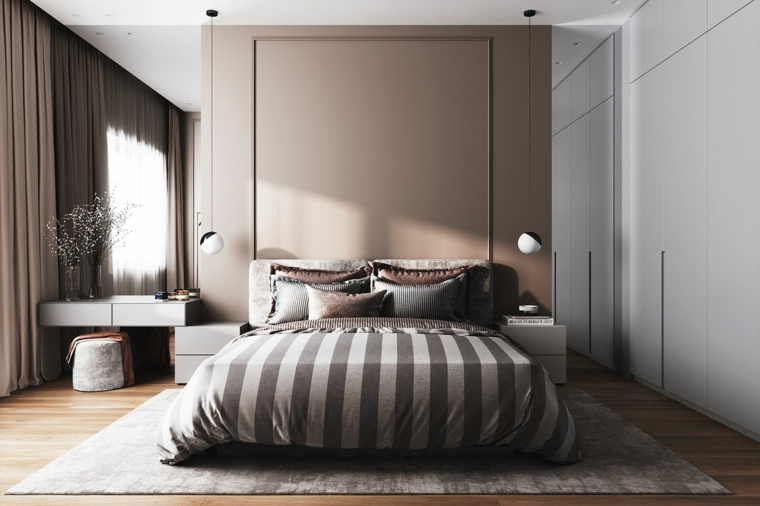colori pareti camera da letto 2021 tinteggiare di colore sabbia e bianco