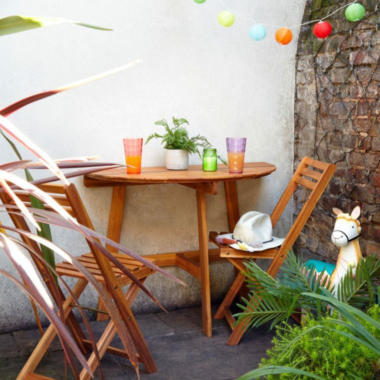 come arredare un giardino piccolo set di mobili tavolo con sedie