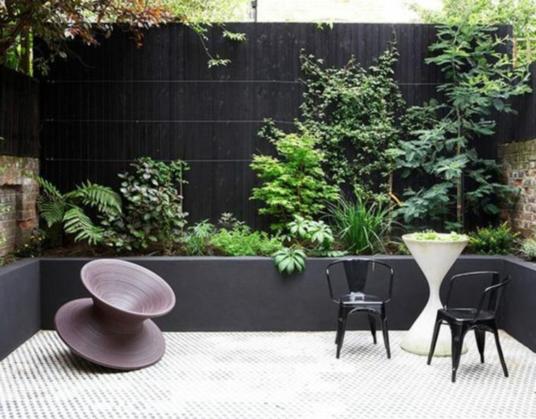 come arredare un giardino spendendo poco mobili minimal di metallo decorazione con piante verdi