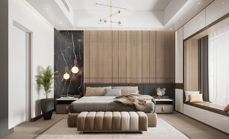 come pitturare la camera da letto muro con boiserie di legno moderna tinteggiare di bianco
