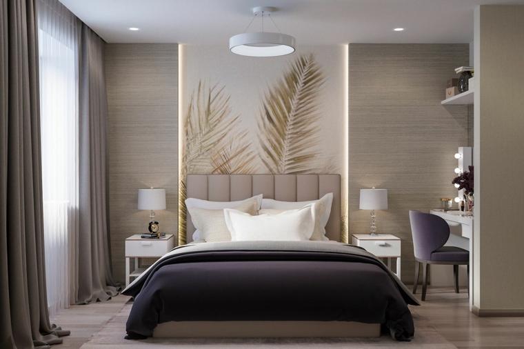 come pitturare la camera da letto parete con boiserie moderna in legno decorazione con poume