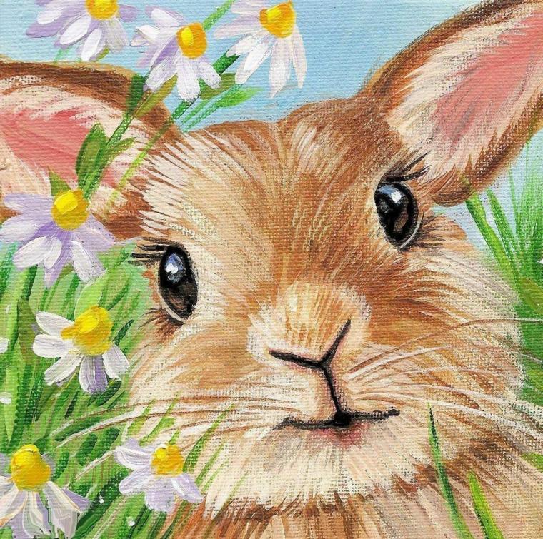 coniglietto pasquale disegno schizzo con pastelli colorati di coniglio pasquale