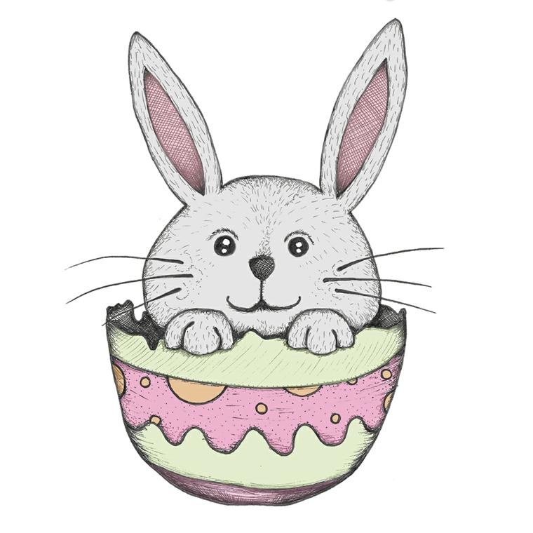 coniglio di pasqua da colorare disegno di coniglietto pasquale in uovo
