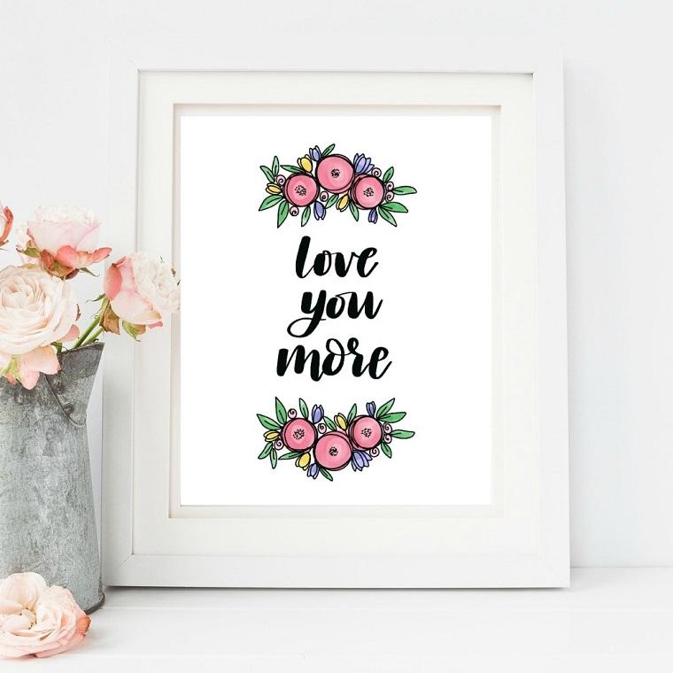 cosa regalare alla festa della mamma cornice con scritta e disegno floreale