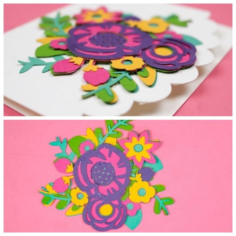 festa della mamma regali fai da te per bambini cartolina tridimensionale di fiori