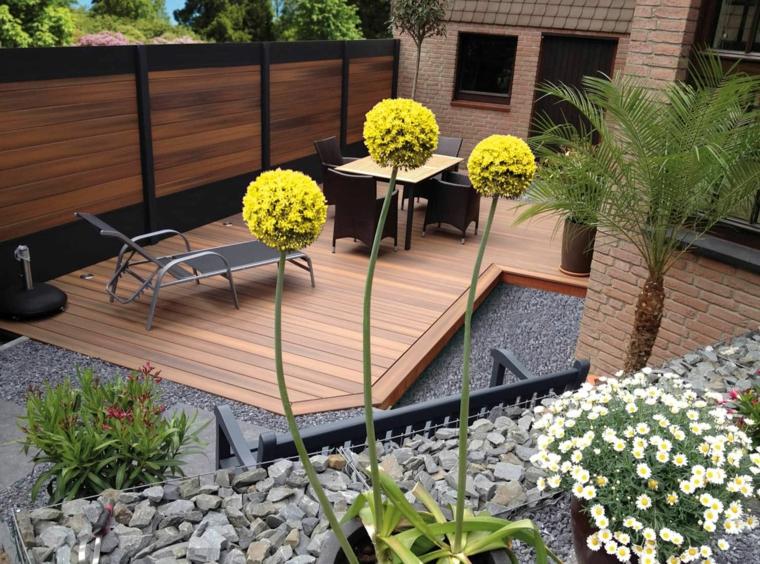 giardini moderni minimal arredamento con set di mobili in rattan
