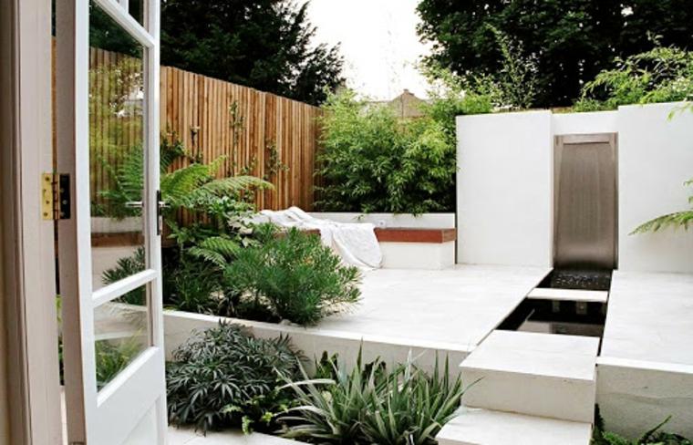 giardini moderni minimal esterno a livelli recinzione giardino in legno
