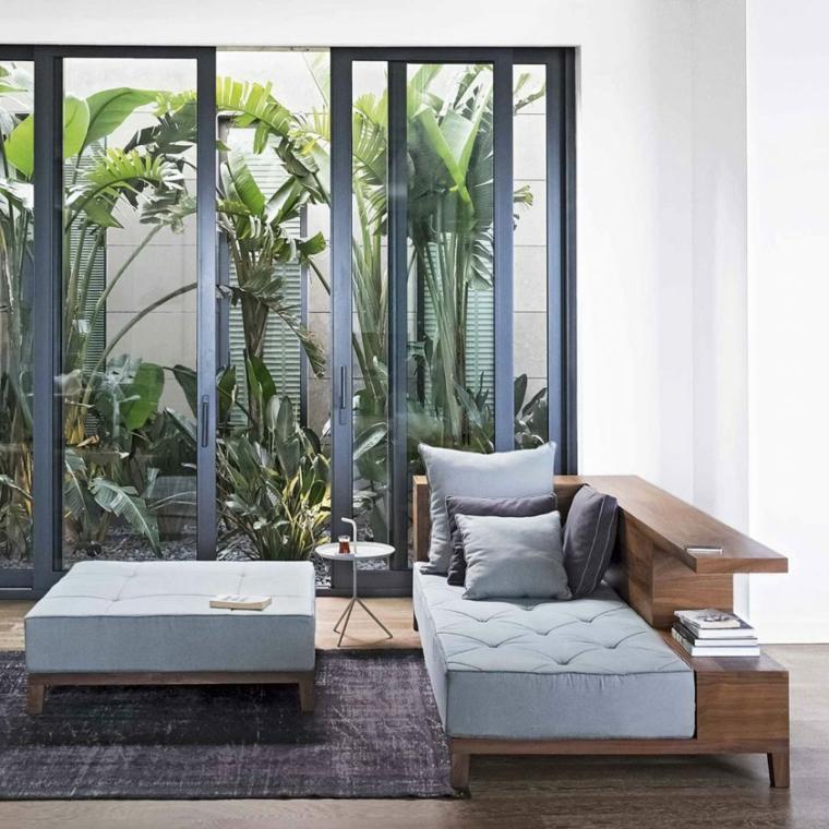 idee per un giardino piccolo moderno outdoor con piante da esterno verdi