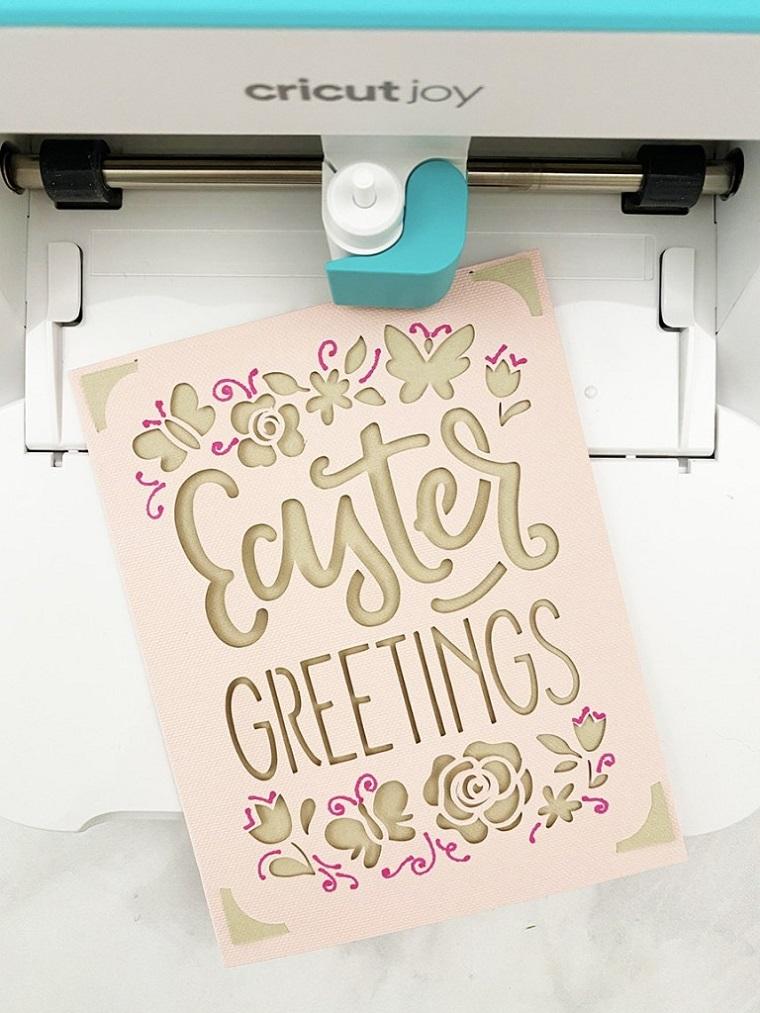 modello cartolina da stampare lavoretti di pasqua con la carta