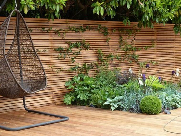 recinzione giardino in legno giardini piccoli moderni sedia dondolo in metallo da esterno