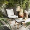 set di mobili in rattan da giardino decorazione con lampade sospese