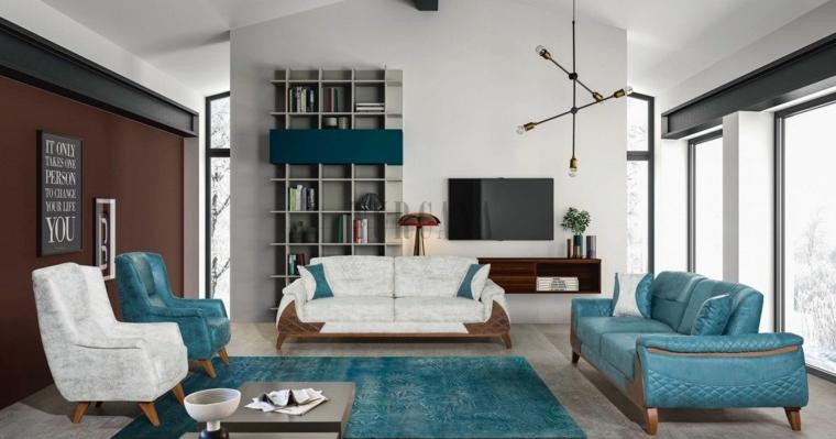 soggiorno con tappeto e divano tiffany arredo con mobili classici