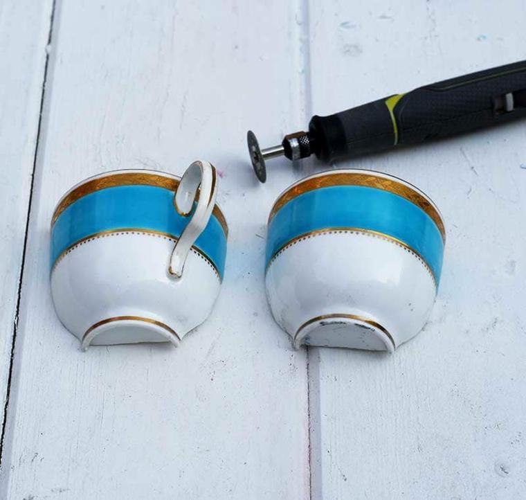 tazzina da caffè divisa in due cosa fare per la festa della mamma bricolage con cornice