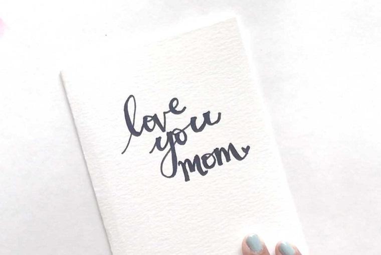 tutorial cartolina con scritta regalo festa della mamma fai da te