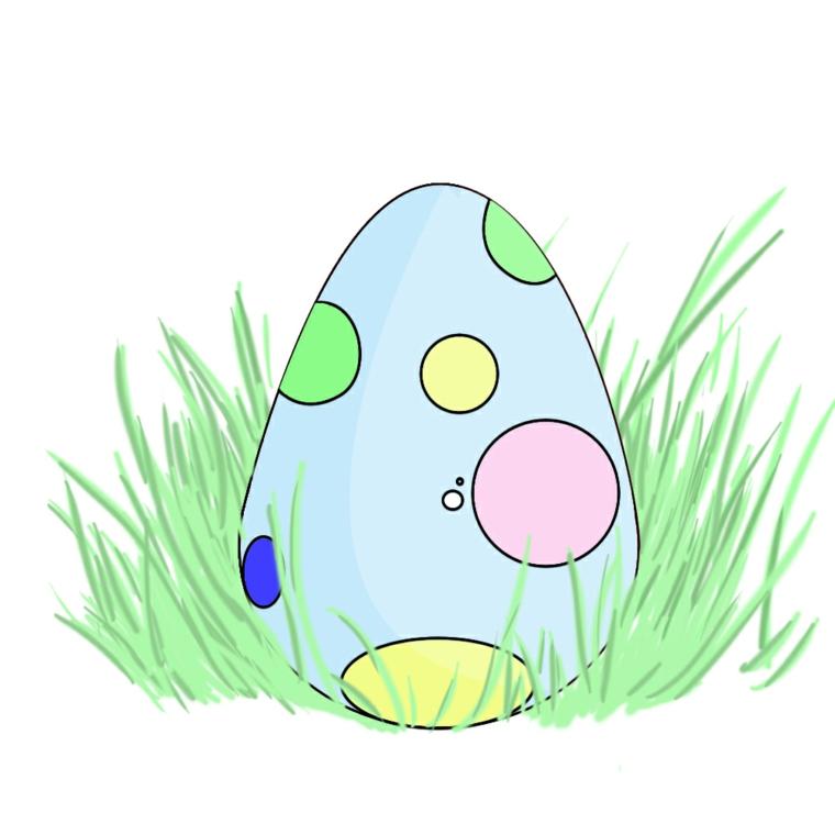 uova di pasqua da colorare schizzo di ovetto colorato con matite colorate