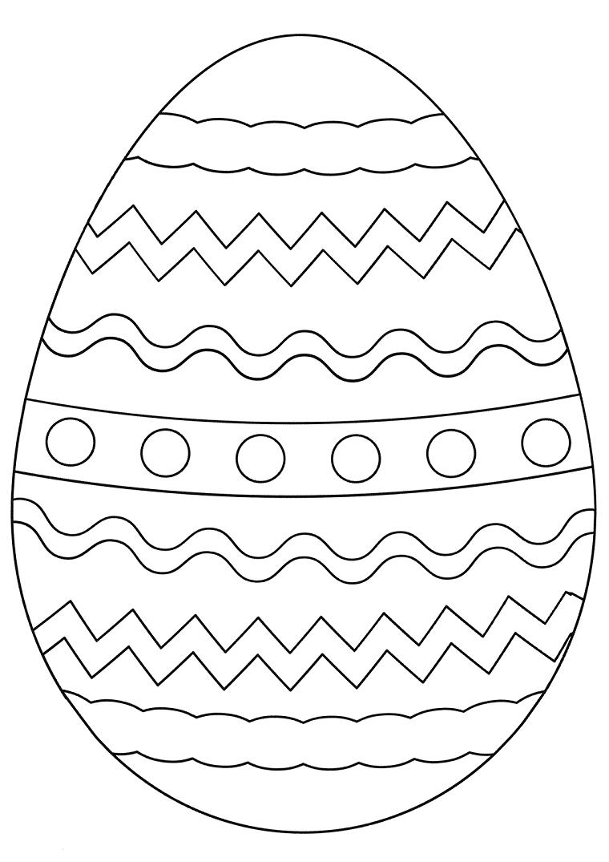 uova di pasqua da colorare schizzo di un ovetto con linee e cerchi