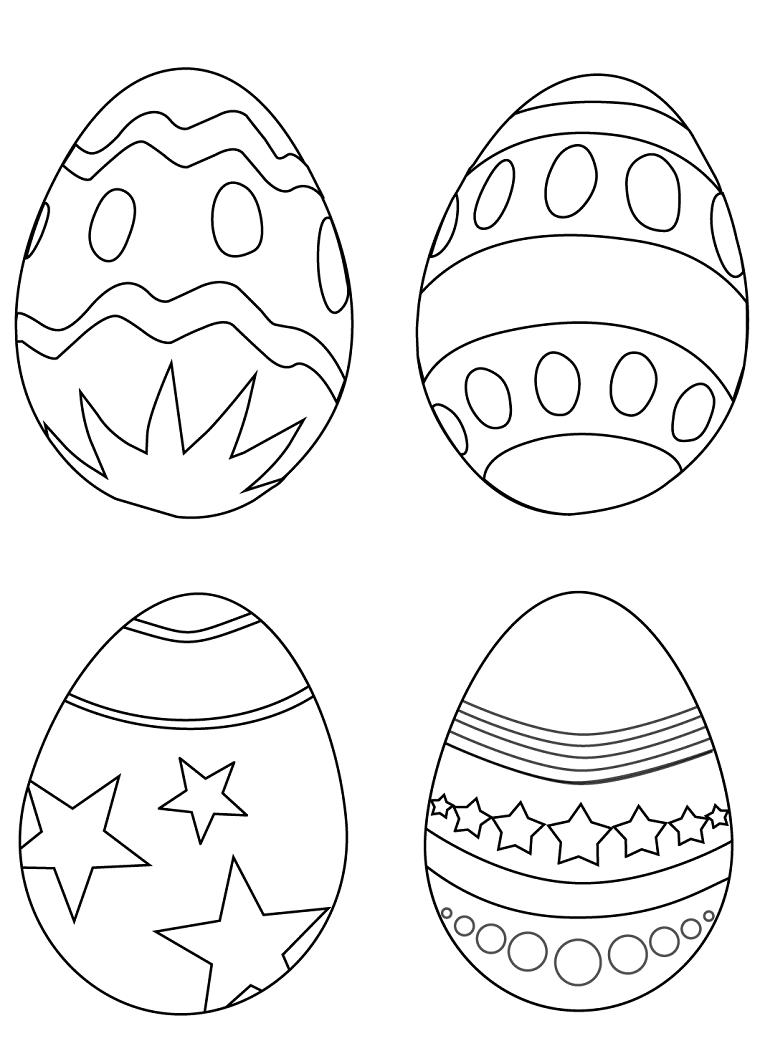 uova di pasqua da stampare e colorare disegno per bambini da colorare