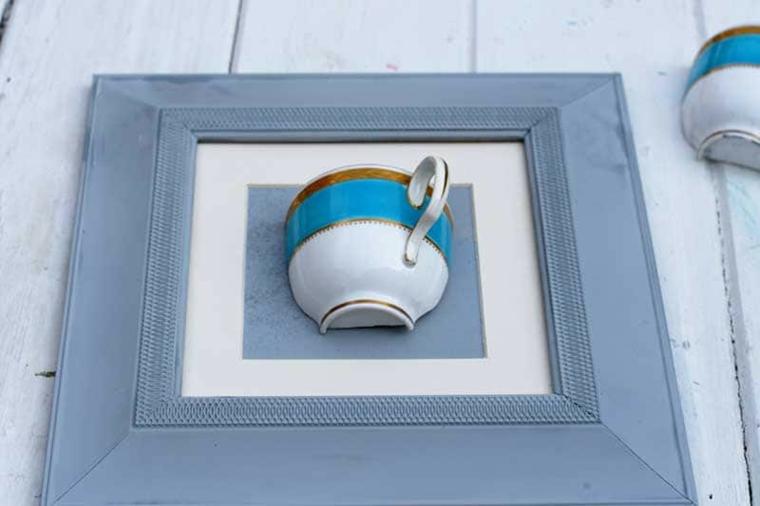 vaso da parete con tazzina da caffè regalo festa della mamma fai da te