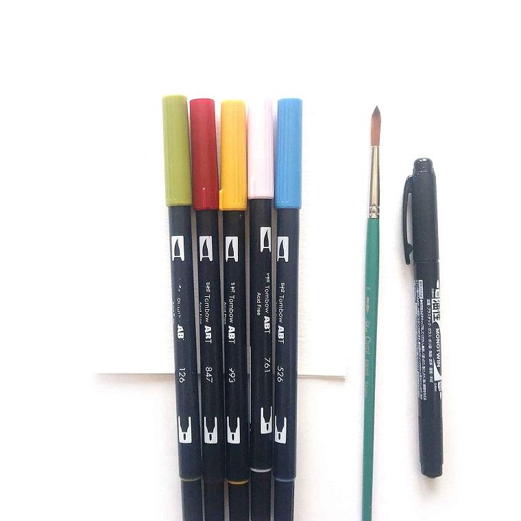 watercolor pennarelli colorati pennello sottile regali per la festa della mamma fatti in casa