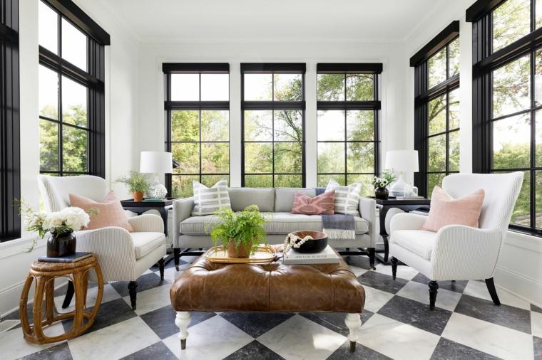 arredo veranda coperta mobili in tessuto tavolini in legno
