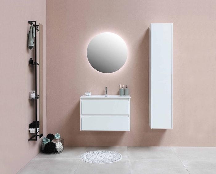 bagno in colore cenere di rose bianco mobili bagno sospesi