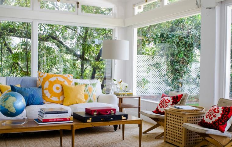 copertura giardino d inverno arredo con mobili in legno