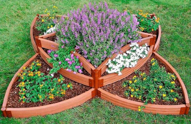 cordoli per aiuole fai da te bordure finto legno per fiori stagionali