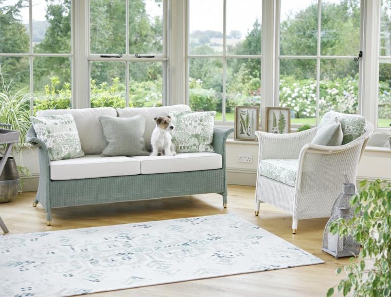 giardino d inverno fai da te arredo con divano in rattan copertura veranda in vetro