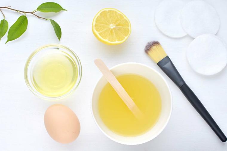 maschera nutriente capelli fai da te impacco per chioma con succo di limone e uovo