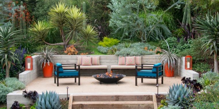 arredamento da giardino in legno composizioni piante grasse da esterno