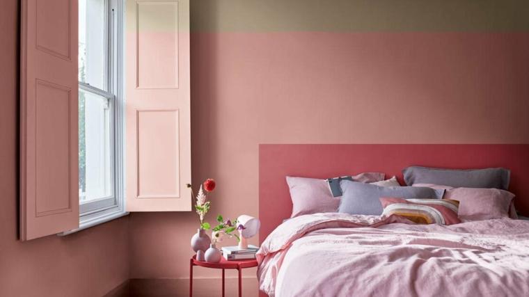 che colore pitturare la camera da letto muri dipinti di color rosa