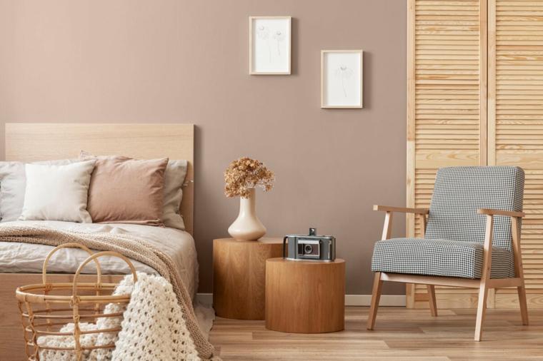 colori pareti 2021 camera da letto muro dipinto di color sabbia
