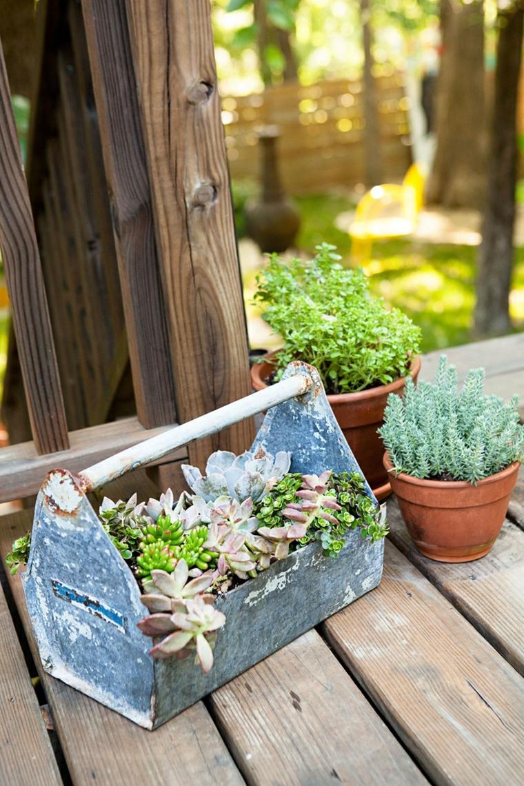 contenitore di metallo per piante grasse da esterno decorazione veranda